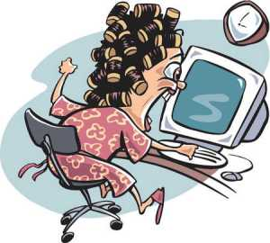 c91f97a1586b54d42467f0a4490918ab_stock-illustration-a-woman-clipart-woman-frustrated-at-computer_450-406