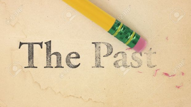7626437-close-up-of-a-yellow-pencil-erasing-the-words-the-past-from-old-yellowed-paper